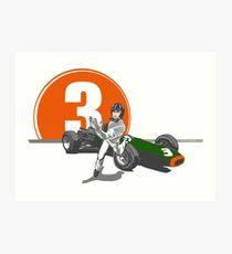 Speed Racer - Graham Hill  Art Print