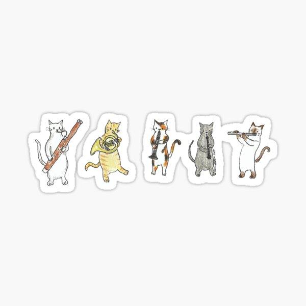 Wind Meowtet II Sticker