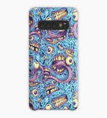 Augäpfel und Zähne Muster Hülle & Klebefolie für Samsung Galaxy
