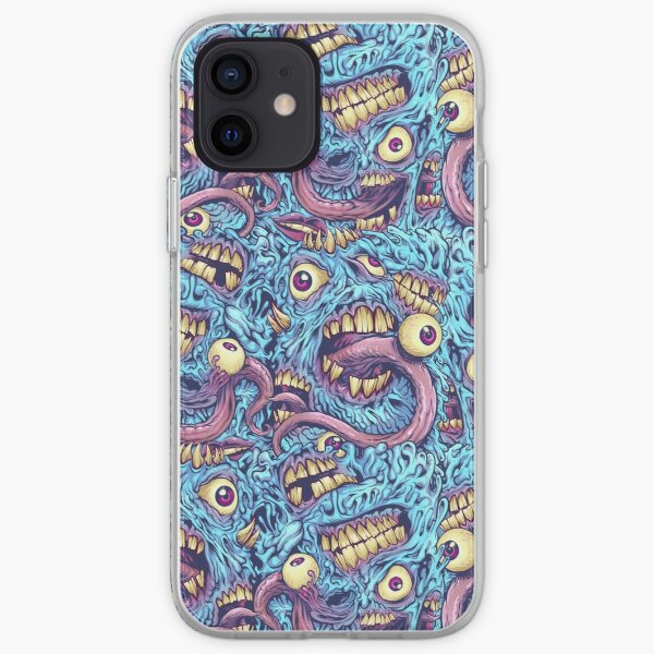 Eyeballs and Teeth Pattern iPhone Soft Case