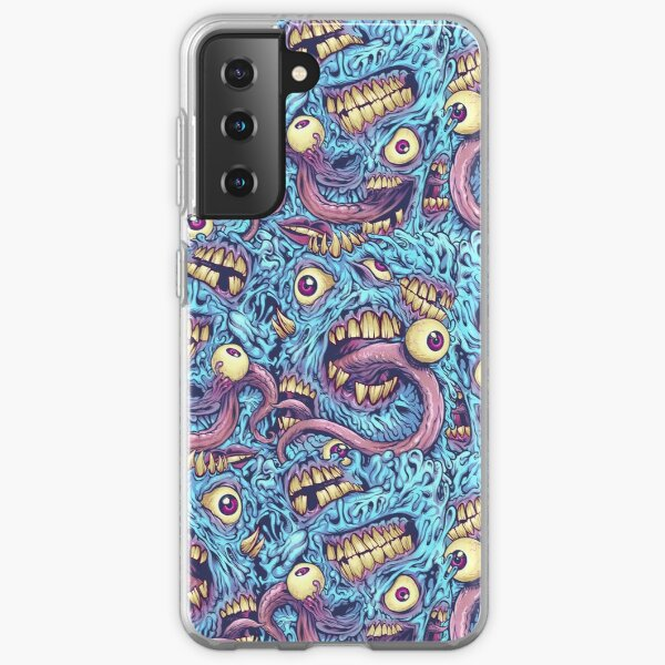Eyeballs and Teeth Pattern Samsung Galaxy Soft Case