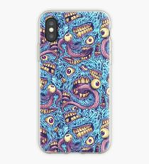 Eyeballs and Teeth Pattern iPhone Case