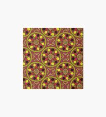 Geometric bright colour pattern Art Board