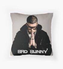 Bad Bunny Throw Pillow