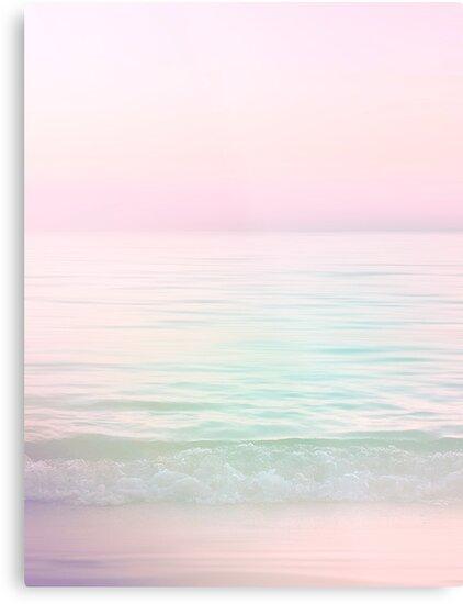 Dreamy Pastel Seascape #buyart #pastelvibes by Dominiquevari