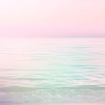 Dreamy Pastel Seascape #buyart #pastelvibes by Dominiquevari