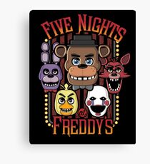 Five Nights At Freddy's Pizzeria Multi-Character Canvas Print