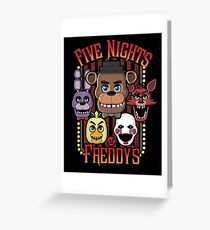 Five Nights At Freddy's Pizzeria Multi-Character Greeting Card
