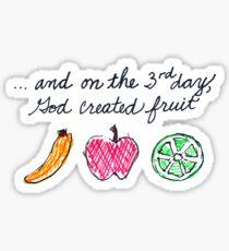 God Created Fruit Sticker