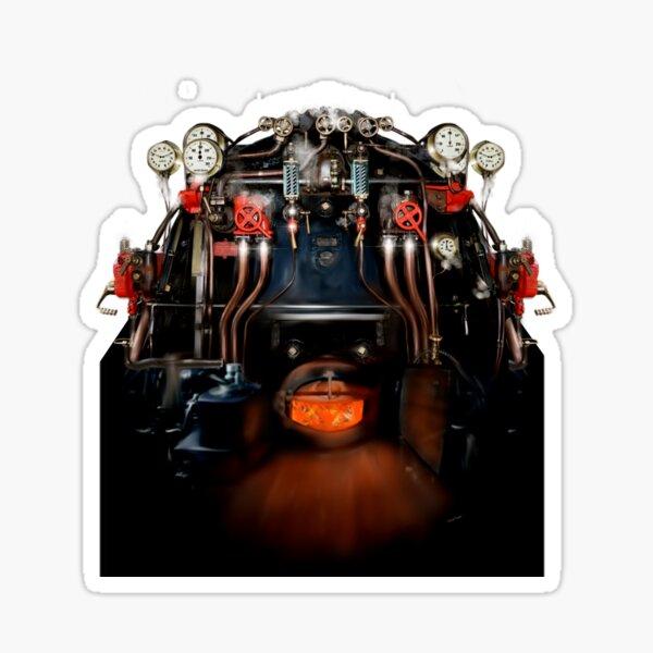Steam locomotive train footplate Pacific class by MotorManiac Sticker