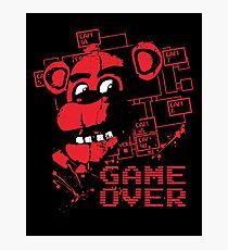 Fünf Nächte in Freddys Pizzeria Game Over Fotodruck