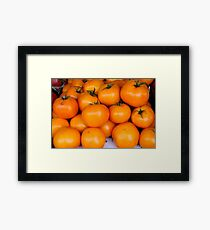 Yellow tomatoes Framed Print