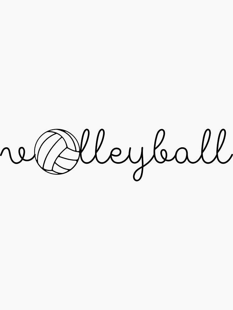 linda voleibol cursiva con pelota de daniellaculkin