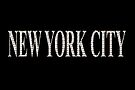 New York City (white type on black) by Ray Warren