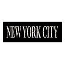 New York City (white type on black plynth on white background) by Ray Warren
