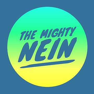 Mighty Nein Retro Logo - Lemon Lime and Blue by JMendezArt