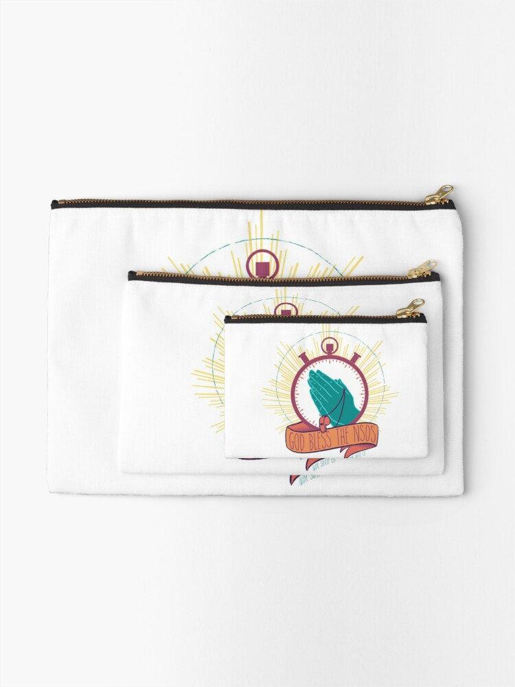 Alternate view of God Bless the NSOs Zipper Pouch