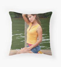Leighann on the lake Throw Pillow