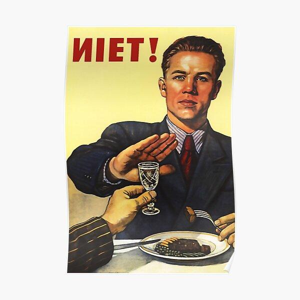 Anti-alcool vintage propagande soviétique Poster