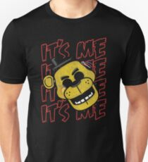 Five Nights At Freddy's It's Me Golden Freddy Slim Fit T-Shirt