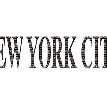 New York City (type on black in type) by RayW