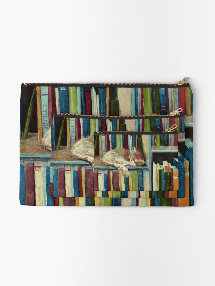 Alternate view of Quite Well Read Zipper Pouch