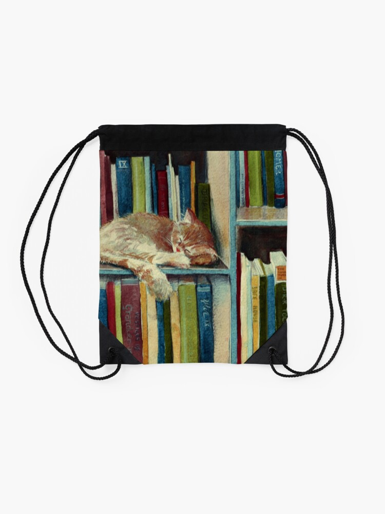 Alternate view of Quite Well Read Drawstring Bag