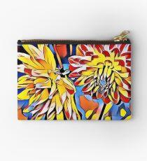 an abstract arrangement of flowers  Studio Pouch