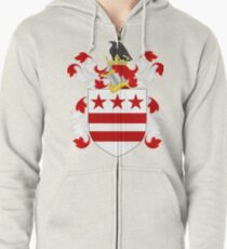 Coat of Arms of George Washington | United States Zipped Hoodie