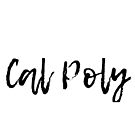 Cal Poly Black Handwriting by emmanne03