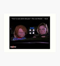 Child's Play 2 - Kyle & Chucky Art Print