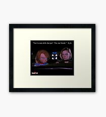 Child's Play 2 - Kyle & Chucky Framed Art Print