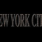 New York City (black type on black) by Ray Warren