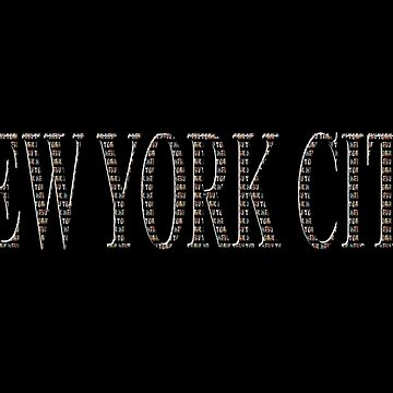 New York City (type on black in type on black) by RayW