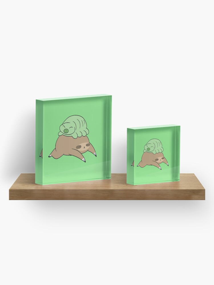 Alternate view of Sloth and Little Waterbear Acrylic Block