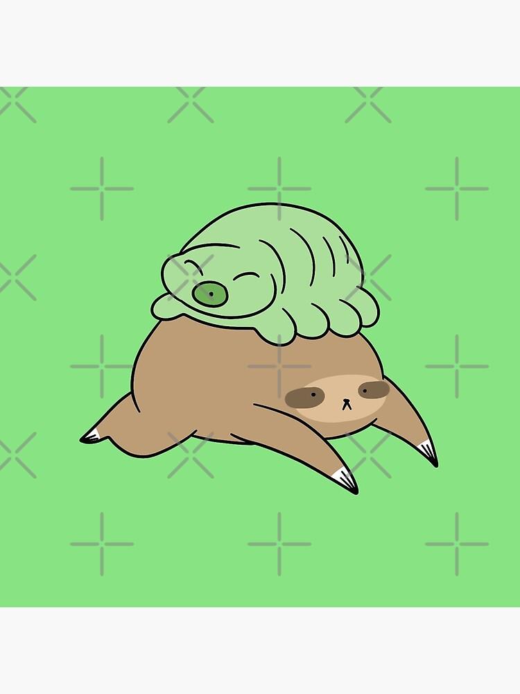 Sloth and Little Waterbear by SaradaBoru