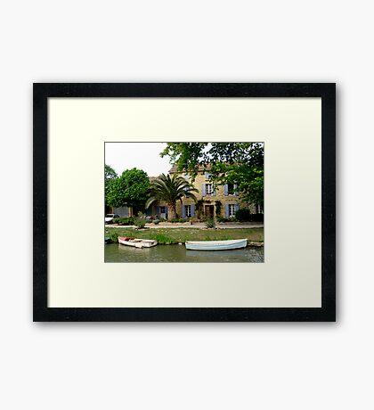 Canal House Framed Print