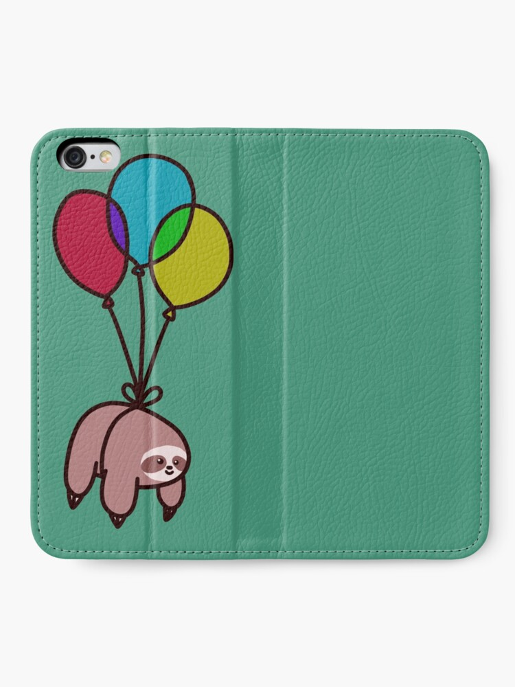 Alternate view of Balloon Sloth iPhone Wallet