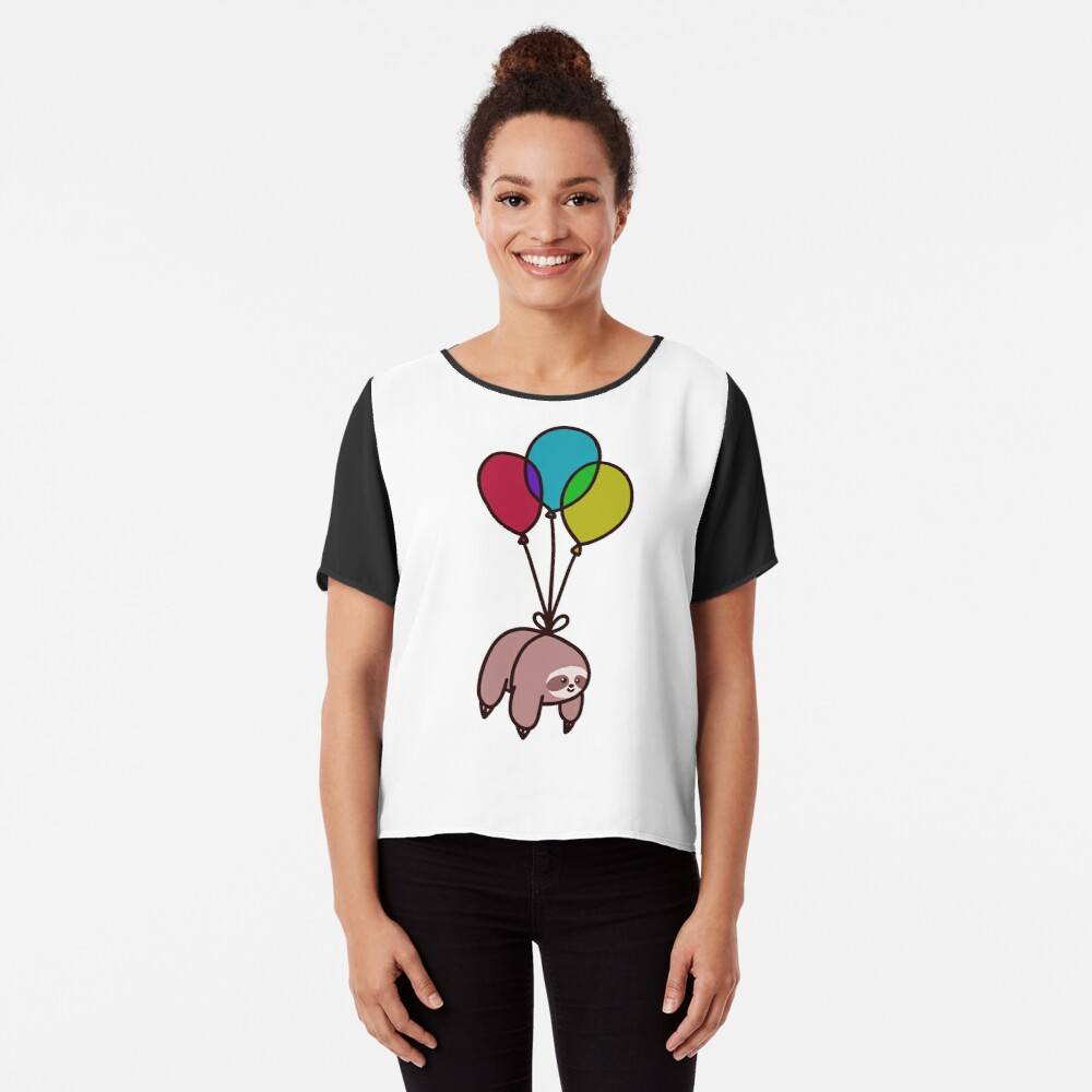 Balloon Sloth Chiffon Top