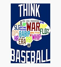 Think Baseball Photographic Print