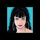 Pop Art Beautiful Woman Alicia by Frank Schuster