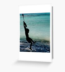 Silhouette Swing Greeting Card