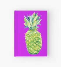 Watercolor Pineapple For All Seasons Hardcover Journal