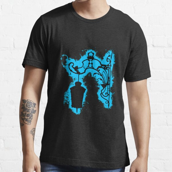 Silhouette lantern lightblue and black silhouette Essential T-Shirt