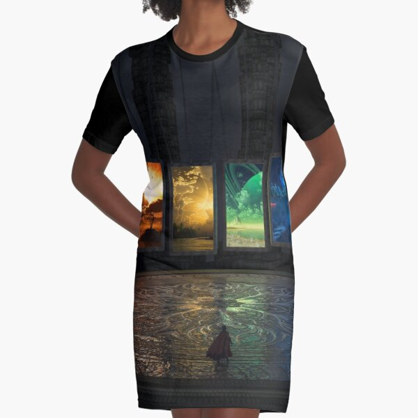 Portals Graphic T-Shirt Dress