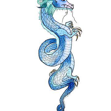 Blue Dragon  by myartjourney