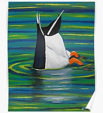 Diving Duck Poster