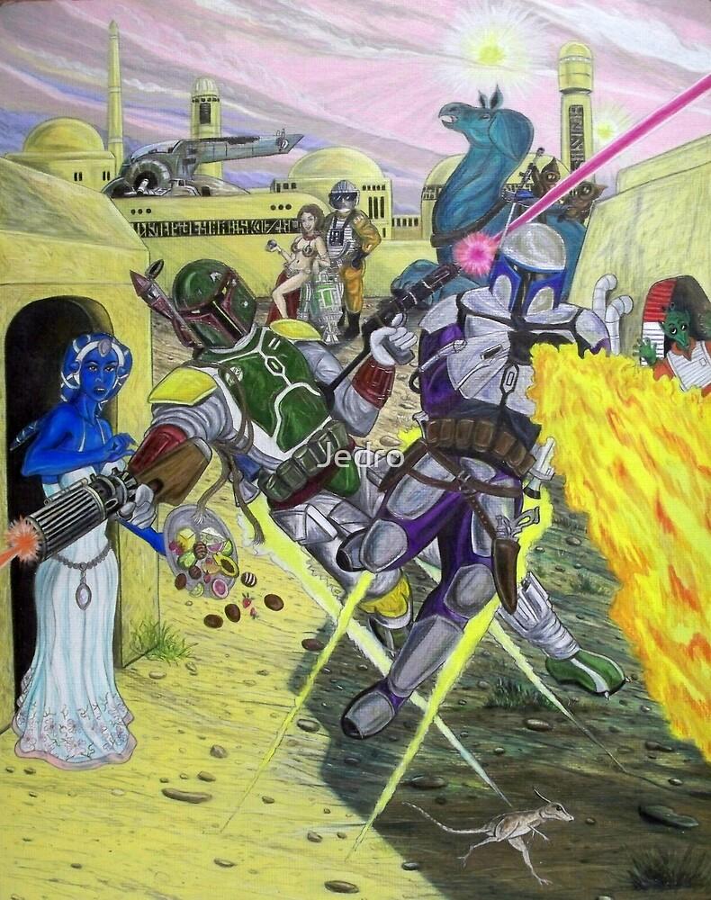 Showdown Of The Bounty Hunters by Jedro