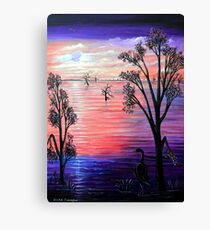 Purple Moon Canvas Print