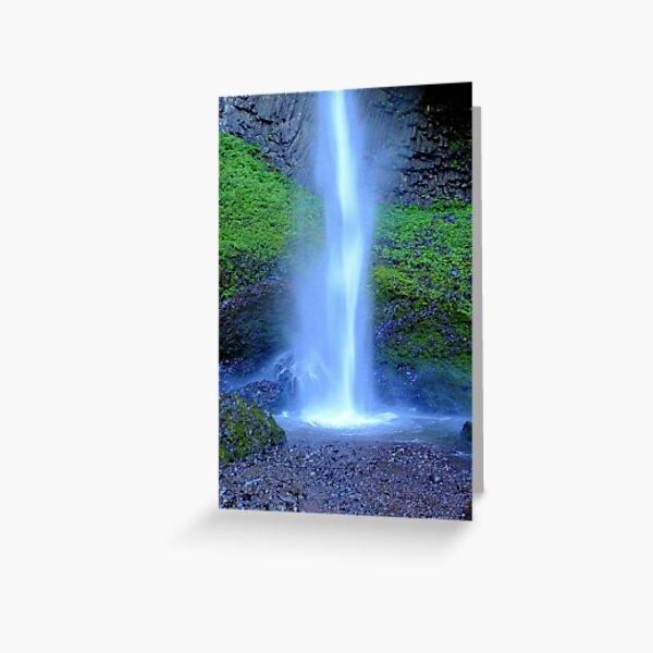 Waterfall-Columbia River Gorge Greeting Card